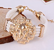White Leather Multilayer Bracelet Bangle Fashion Jewelry