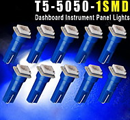 10 PCS Ultra Blue T5 5050 1SMD Wedge Car LED Light Bulbs 2721 74 73 70 17 18 37