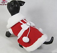 Cat / Dog Coat / Dress Red Winter Bowknot Christmas / New Year's