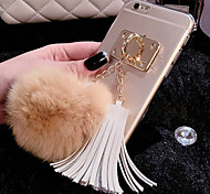 Luxury Rabbit Hair Ball Tassel Pendant TPU Cases for iPhone 5/5S(Assorted Colors)