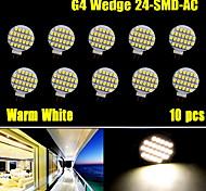 10x warm wit 3500K hoge heldere g4 24 smd lezen marine boot rv led-lamp