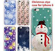 maycari® nevando en día de Navidad de TPU transparente trasera para el iPhone 6 6s / iphone (colores surtidos)