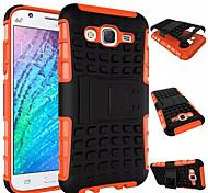 Für Samsung Galaxy Hülle Stoßresistent / mit Halterung Hülle Rückseitenabdeckung Hülle Panzer PC Samsung J7 / J5 / J1 / E7 / E5