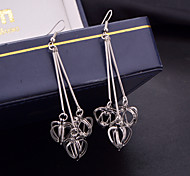 Hot Style Water Droplets Stereo Heart-Shaped Pendant Euramerican Popularity Joker Frosted Earrings Earrings