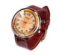 Женские Модные часы Кварцевый Кожа Группа