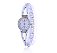 Women Dress Silver Alloy Watches Brand Watch Bracelet Luxury Quartz Crystal Watch Women Wristwatches
