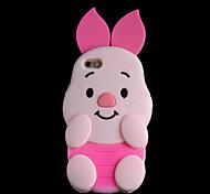 rocs silicium 3d rose cas de porc pour iphone 6 / 6s