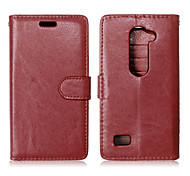 PU Leather + TPU Back Cover Wallet Case Flip Cover Photo Frame Case for LG LEON 4G LTE C40
