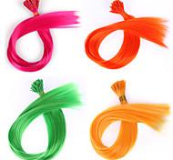 20шт / много я чаевые Наращивание волос 50 бусин крючком гризли синтетическое кольцо волос синтетический цикл волос кусок цветом
