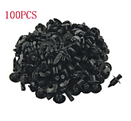 K123 100 Pcs Auto Car 6mm Hole Push Plastic Door Fender Rivets Clip