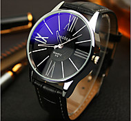 Yazole Watches Men'S Watches Symphony Blue Mirror Waterproof Quartz Business Watch Gift Idea
