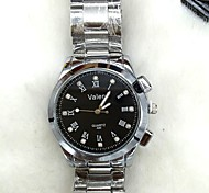 Men's Fashion Watch High-Grade Black Diamond Plate Steel Quartz Watch