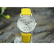 Women's Digital letter DecorationRound Dial Quartz Analog Wrist Watch