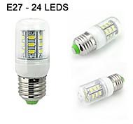 PC 1 E26 / E27 5W 400lm 24smd5730 blanco caliente bulbos blancos / decorativos naturales de maíz AC85-265 v