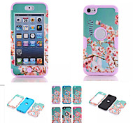 Cherry Blossom Pattern High Quality Snap-on PC + Silicone Hybrid Combo Armor Case Cover for iPod touch 6(Assorted Color)