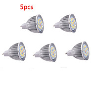 5pcs 8w mr16 16xsmd5630 650lm blanc chaud / froid led ampoules LED spots (DC12V)