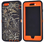 PC+TPU Waterproof Pouches Branch Camouflage Shockproof Case Build-in Screen Protector for iPhone 6 Plus/iPhone 6S Plus