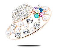 High-grade thick plated with gold brooch small fresh star with a diamond brooch Pearl Brooch