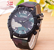 L.WEST Men's Camouflage Quartz Watch Wrist Watch Cool Watch Unique Watch Fashion Watch