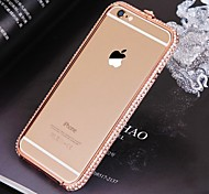 High Quality Metal Bumper Frame with Diamond for iPhone 6/6S (Assorted Colors)