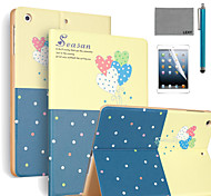 LEXY® Romantic Balloon Pattern PU Leather Flip Stand Case with Screen Protector and Stylus for iPad Air 2/iPad 6