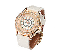Watch Women Genuine Leather Band Rhinestone Leisure Watch Vintage Wrist Watch Quartz Watches(Assorted Colors)