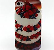 Erdbeerkuchen Malerei-Muster-TPU weiche Tasche für iPhone 4 / 4S