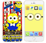 iPhone 6 Case Minions Despicable Me Silicone Gel TPU material  Case Free with Headfore HD Screen Protector for iPhone 6