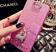 LADY®Elegant Mobile Flip Case/Cover for iphone 6/6s(4.7), Decorated with PU Leather and Diamond, More Colors Available