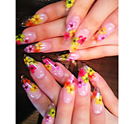 8PCS Floral Design Nail Art Stickers