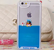 Three-Dimensional Penguin Pattern Transparent PC Material Phone Case for iPhone 6 /6S