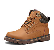 Men's Shoes Office & Career / Athletic / Casual Leather Boots Black / Brown