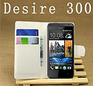 gaufré étui debout pour HTC Desire 300 téléphone mobile de téléphone mobile