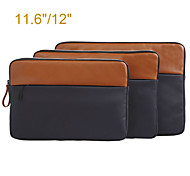 Genuine Leather with Canvas Laptop Computer Carrying Bag for MacBook Air 11.6''/MacBook 12'' with Retina