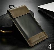 cintura pendurado pu pacote de material de cartão tampa do telefone para iphone 6 / 6s (cores sortidas)