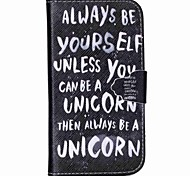Be Yourself Pattern PU Leather Case with Card Slot and Stand for Samsung Galaxy S4 mini/S3mini/S5mini/S3/S4/S5/S6