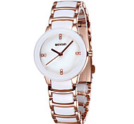 WEIQIN® Ceramic Band Dress Watches Women Luxury Crystal Rhinestone Rose Gold Brand Watch Lady Fashion Wristwatch