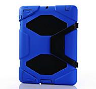 caso del defensor de la moda a prueba de agua caja de la PC + híbrido de silicona cubierta de la caja a prueba de golpes para el ipad