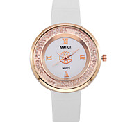 GENEVA Fashion Style Women Leather Band Quartz Wristwatch