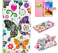 Colorful Butterfly PU Leather for Galaxy S5/S6/S6Edge/S6Edge Plus