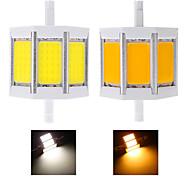 1 pcs R7S 10 W 3 COB 960 LM Warm White / Cool White LED Corn Bulbs AC 85-265 V