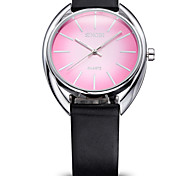 SINOBI®Brand ultra-Thin Black Leather Strap Silver Case Women Dress Watches Fashion Casual Female Quartz Watch