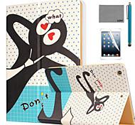 lexy® ne me oubliez pas motif cas de stand PU cuir flip avec protecteur d'écran et un stylet pour iPad air 2 / ipad 6