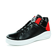 Men's Shoes Outdoor / Casual Leather Fashion Sneakers Red / Silver / Gold