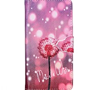 Dandelion Pattern Full Body Cover with Card Slot for Samsung Grand Prime