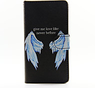 Wings Design PU Leather Full Body Case with Stand and Card Slot for Huawei P8Lite