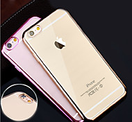 Super Soft Thin Plating TPU Material Phone Case for iPhone 6/6S (Assorted Colors)
