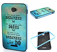 2-in-1 Dreamers And Dream Phrase Pattern TPU Back Cover + PC Bumper Shockproof Soft Case For Sony E4