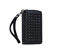 The Specially Designed Multi-Function Card Wallet Genuine Leather Knit Lines Holster for iPhone 6/6S