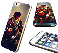 iPhone 6 Case Marvel The Avenger Ironman Mirror Back Blue Cover Case Free with Headfore HD Screen Protector for iPhone 6